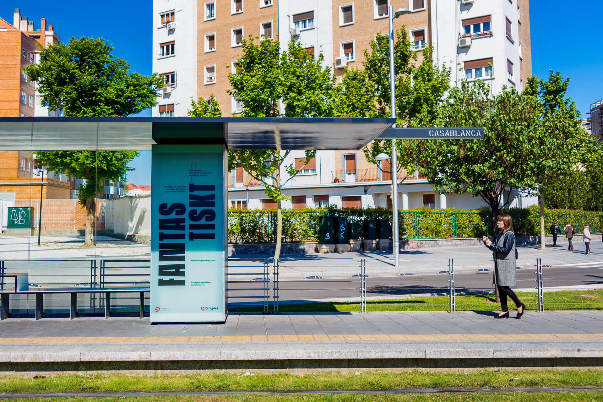 Anto Moreno Campaña gráfica Tranvías de Zaragoza
