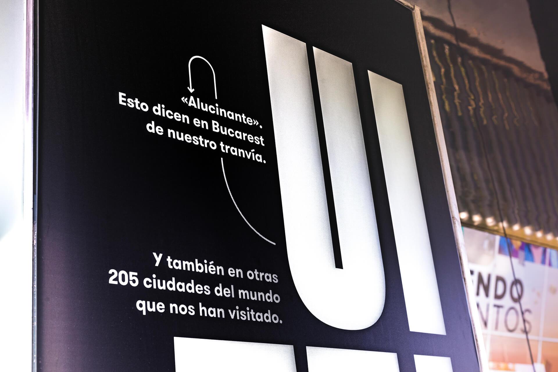 Anto Moreno - Full Graphic Services Campaña gráfica Tranvías de Zaragoza